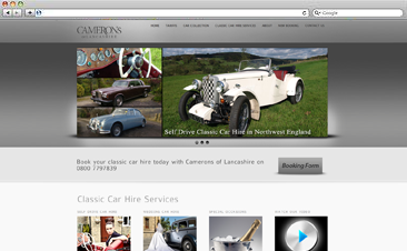 www.cameronsclassiccarhire.com